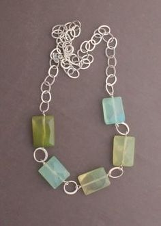 Chalcedony and sterling necklace- RubyLoves