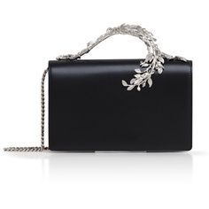 Ralph&Russo Eden Classic (56.655 ARS) ❤ liked on Polyvore featuring bags, handbags, black, chain handle handbags, chain strap purse, chain strap handbags, chain strap bags and chain shoulder bag