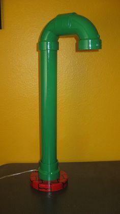 Super Mario Bros SMB Warp Pipe Desk Table Lamp High Brightness LED Lamp Retro Video Game. $49.00, via Etsy.