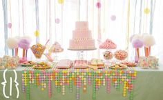 Hmm.. how can I make that cute little table liner with the multi colored dots?