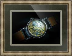 "Audemars Piguet Swiss Watch // Paper: enhanced matte; Glazing: acrylic; Moulding: silver, providence silver; Top Mat: green, spruce; Middle Mat: green, olive grey; Bottom Mat: green, deep sage // Price starts at $206 (Petite: 21.5"" x 24.5""). // Customize at http://www.imagekind.com/Audemars-Piguet-Swiss-Timepiece_art?IMID=b8bf17f1-4ecf-485d-95b3-f6582eb434df"