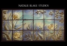 New custom backsplash tiles from Natalie Blake Studios. Can you see this in your kitchen or bathroom?