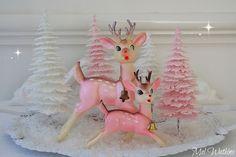 vintage deer display