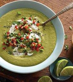 Roasted Pepper and Avocado Soup