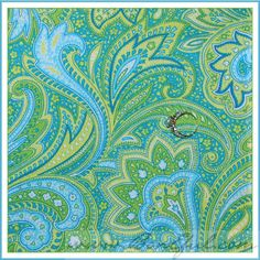 BOOAK Fabric Lime Green Aqua Blue White Paisley Flower Spring FQ Texture Quilt found on Polyvore...for curtains?
