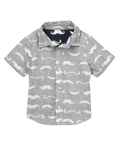 Mustache Print Shirt at Crazy 8  @mrslono  on sale now for only $9.59!  :)