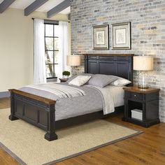 Americana Panel 3 Piece Bedroom Set Size: Queen, Finish: Black - http://delanico.com/bedroom-sets/americana-panel-3-piece-bedroom-set-size-queen-finish-black-589979385/