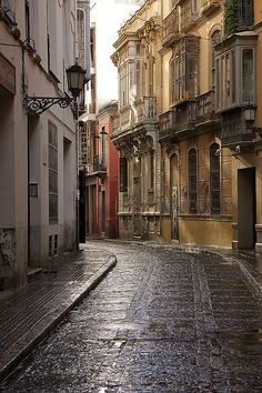 Narrow Street, Malaga, Spain photo via sac