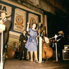 Patsy Cline, on stage at the Grand Ole Opry approx. 1962.