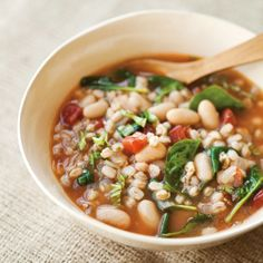This wonderfully textured soup marries a handful of classic Tuscan flavors. The beans and farro make it hearty enough for a meal served alongside a ... read more