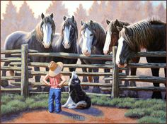 SunsOut puzzles are made in the USA with eco-friendly soy-based inks on recycled boards. SunsOut is not sold in mass-market stores. Completed puzzle is x x cm) Sunsout Puzzles, Cow Cat, Holstein Cows, Up Dog, Country Paintings, Canadian Art, Realism Art, Horse Art, Farm Life
