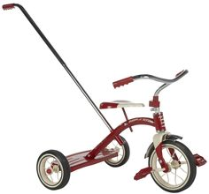 RADIO FLYER CLASSIC RED 10 INCH TRICYCLE WITH PUSH HANDLE $51.45