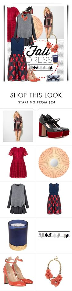 """""""another glass of bordeaux"""" by meadowbat ❤ liked on Polyvore featuring Oris, Avenue, Miu Miu, Dot & Bo, Manon Baptiste, Paddywax, York Wallcoverings, Valentino, BaubleBar and Karl Lagerfeld"""