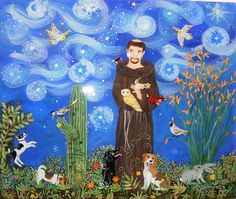 St. Francis with Jack Russells