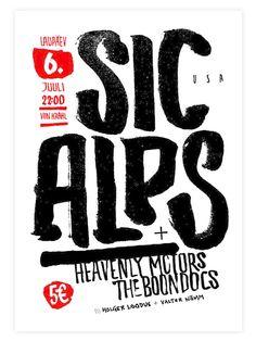 Sic Alps Poster on Behance by Kaarel Vahtramäe