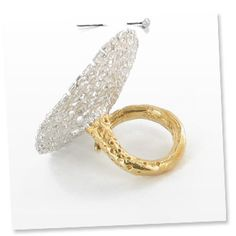 Silver and 18K gold plated ring by Natalie Dissel