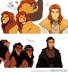 Funny pictures about If Mufasa and Scar were men. Oh, and cool pics about If Mufasa and Scar were men. Also, If Mufasa and Scar were men. Disney Fan Art, Disney Love, Disney Magic, Disney Anime Style, Geek Culture, Cartoon As Anime, Le Roi Lion, Anime Version, Marvel