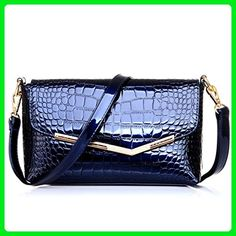 625d8add4051 Katoony Womens Patent Leather Crocodile Grain OL Shoulder Handbag Crossbody  Bag Purse with Clutch - Crossbody. Retikül TáskaBőr Válltáska