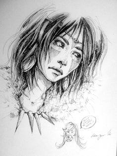 Sketchbook: Princess by Doringota.deviantart.com on @DeviantArt
