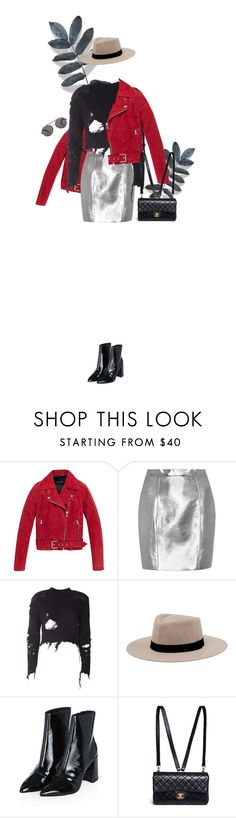 """""""Untitled #528"""" by fanfan-zheng ❤ liked on Polyvore featuring Andrew Marc, Yves Saint Laurent, adidas Originals, MANGO, Topshop and Chanel"""