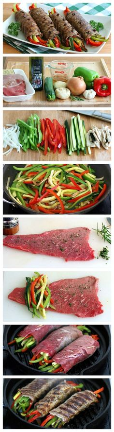 Tender steak rolls filled with zesty vegetables and drizzled with a glaze that is simply out of this world delicious.: