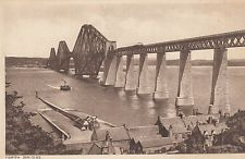 Forth Rail Bridge from South Queensferry in the early 1900's.