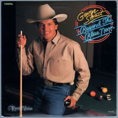"""#BeyondTheBlueNeon, by #GeorgeStrait, produced the singles """"Baby's Gotten Good at Goodbye"""", """"What's Going on in Your World"""", #AceInTheHole, and #OvernightSuccess. The first three singles all reached Number One on the Billboard country charts. A reviewer on allmusic.com says, """"what makes #BeyondTheBlueNeon exceptional, one of his very best records, is that every one of the ten songs is irresistible. In a career filled with good music, this is one of the truly essential records."""" #Vinyl #LP"""