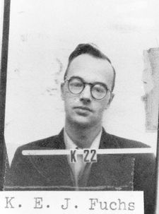 Klaus Fuchs (1911 - 1988) Physicist who worked on the Manhattan Project, he was convicted for passing nuclear secrets to the Soviet Union