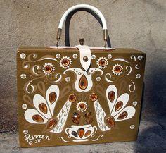 """Pavan III"" Enid Collins box bag, circa 1960's."