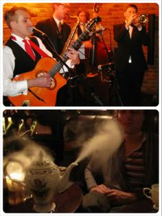 Secret Prohibition bar on City Road, Old Street...it's great! Jazz, swing, blues and funk music whilst sipping delicious cocktails..make sure you book ahead
