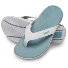 """The Lady's Plantar Fasciitis Orthotic Sandal - Hammacher Schlemmer - These are the lightweight sandals that help to combat the effects of plantar fasciitis with a stabilizing orthotic footbed that realigns feet to a neutral position. """"I have other flip flops but since I have plantar fasciitis these are the only ones comfortable enough to wear."""""""
