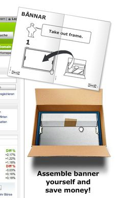 Ikea - Unbox the banner  Put together a banner yourself and save money.  An interactive and playful way to make user remember the Ad.  #banner #online