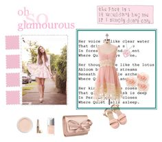 """""""oh so glamourous"""" by jamie-760 ❤ liked on Polyvore featuring Chicwish, Anouska London Jewellery, Bare Escentuals, Jouer, Christian Dior, xO Design, Valentino, Reverie and Warehouse"""
