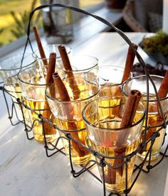 My current favorite obsession, cocktails with cinnamon swirl sticks!