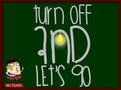 Aprende inglés con el profesor Mr. Picman: Turn off and let's go (Apaga y vámonos)