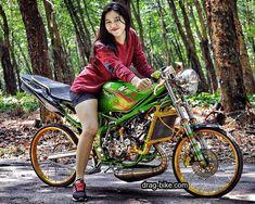 Cafe Racer Honda, Drag Bike, Street Racing, Lady Biker, N Girls, Kawasaki Ninja, Custom Bikes, Drag Racing, Motorcycle