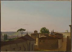 View on the Quirinal Hill, Rome  Simon Denis   1800 Oil on paper, laid down on canvas 11 5/8 x 16 1/8 in.  2003.42.20  This artwork is part of The Path of Nature:  French Paintings from the Wheelock Whitney Collection, 1785–1850 via Met Museum