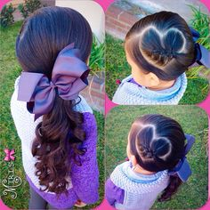 Heart hair style for little girls