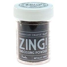 American Crafts Metallic embossing powder; Pewter