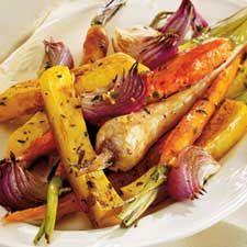 légumes rotis au balsamique