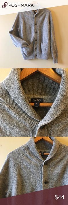 Mens J. Crew shawl neck cardigan Very good condition, very minor piling. 100% wool. Add this to a bundle to save 15%. J. Crew Sweaters Cardigan