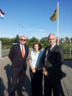 Met collega's Nieboer en De Jong