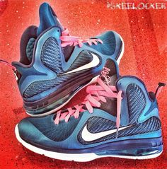 """#SkeeLocker 172/365: LeBron 9 """"Swingman"""" inspired by Ken Griffey Jr. Had to post some LeBron's today (congrats Heat fans) and since it's the first official day summer / baseball is now the main sport, these fit perfect"""