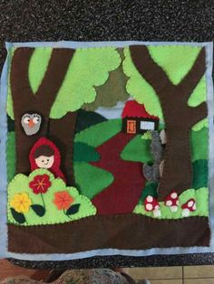 Red riding hood felt quiet book page