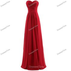 Red bridesmaid dress  long evening dress / chiffon by dressestime