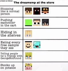 Minecraft Funny, Minecraft Fan Art, My Dream Team, Just Dream, Stupid Funny, Haha Funny, Funny Relatable Memes, Funny Jokes, Dream Friends