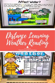 Weather Bundle brings weather reading passages, a bonus weather science activity, and a powerful way to integrate the content area of science into reading with a print and go and digital option. Your students will focus on asking and answering questions, main idea, making connections between scientific concepts, vocabulary, and text features. #weatherdistancelearning Learning Weather, Weather Activities For Kids, Weather Science, Elementary Science, Teaching Science, Science Activities, Teaching Resources, First Grade Teachers, First Grade Classroom
