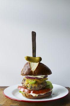 buttered pepper burger — Whisk + Brush