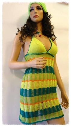 TOTAL SALE Summer dress Jamaica fashion by CROCHETbyPROSTYLE