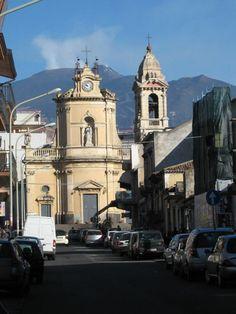 Belpasso, Sicily.. Mt. Etna in the background